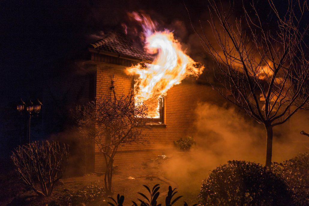 Brannte Einfamilienhaus in Buchholz