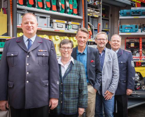 (v.l. André Emme, Heidemarie Micheel, Jan-Hendrik Röhse, Frank Piwecki, Thomas Meschkat)